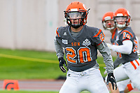 KELOWNA, BC - SEPTEMBER 22: Tyler Going #20 of Okanagan Sun warms up against the Valley Huskers at the Apple Bowl on September 22, 2019 in Kelowna, Canada. (Photo by Marissa Baecker/Shoot the Breeze)