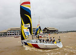 2008 Monsoon Cup. Torvar Mirsky and Ian Williams enter the starting area (Sunday the 7th December 2008). .
