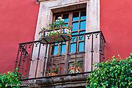 Decorative window display on the streets of San Miguel de Allende, Mexico