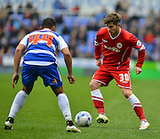 Cardiff City's Matthew Kennedy on the ball during the Sky Bet Championship match between Reading and Cardiff City at the Madejski Stadium, Reading, England on 4 April 2015. Photo by Mark Davies.