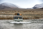 Expedition vehicles<br /> PeteOxfordExpeditions.com<br /> near Altai Sum<br /> Altai Mountains<br /> Western Mongolia