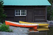 Canoes on Two Medicine Lake, Glacier National Park