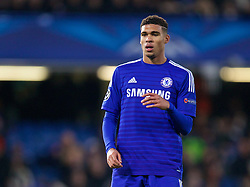 LONDON, ENGLAND - Wednesday, December 10, 2014: Chelsea's substitute Ruben Loftus-Cheek in action against Sporting Clube de Portugal during the final UEFA Champions League Group G match at Stamford Bridge. (Pic by David Rawcliffe/Propaganda)