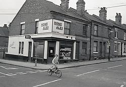 Off licence, Forest Fields, Nottingham UK 1985