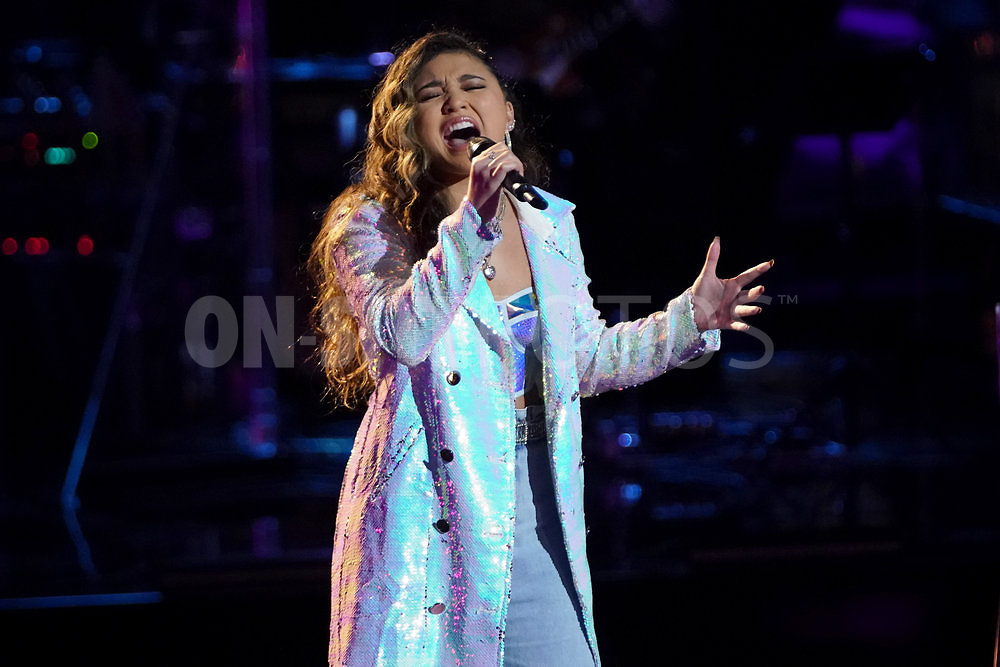 """THE VOICE  -- """"Knockout Rounds"""" Episode 2010 --  Pictured: Ciana Pelekai -- (Photo by: Tyler Golden/NBC)"""