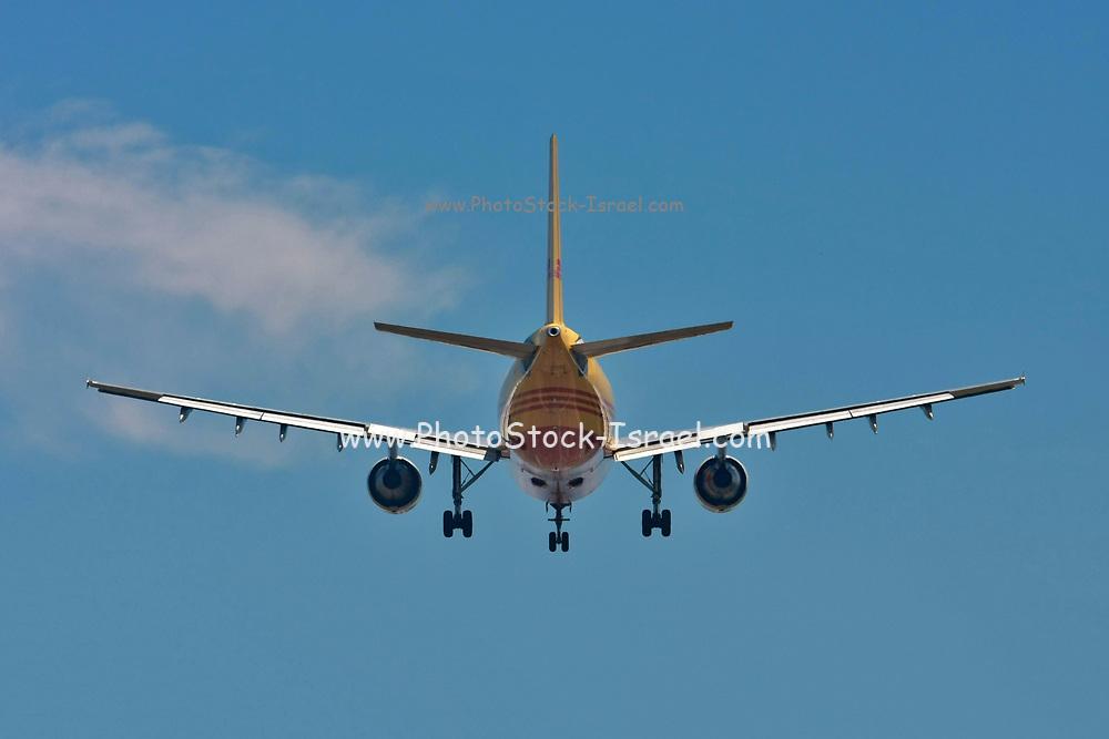 DHL cargo plane  at Malpensa (MXP / LIMC), Milan, Italy