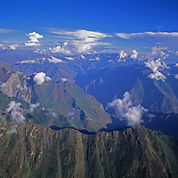 Deep canyons of the eastern Andes drain towards the Amazon Basin.