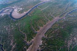 July 23, 2017 - Nanton, Nanton, China - Nantong, CHINA-July 23 2017: (EDITORIAL USE ONLY. CHINA OUT) Aerial photography of tidal flats in Nantong, east China's Jiangsu Province. (Credit Image: © SIPA Asia via ZUMA Wire)