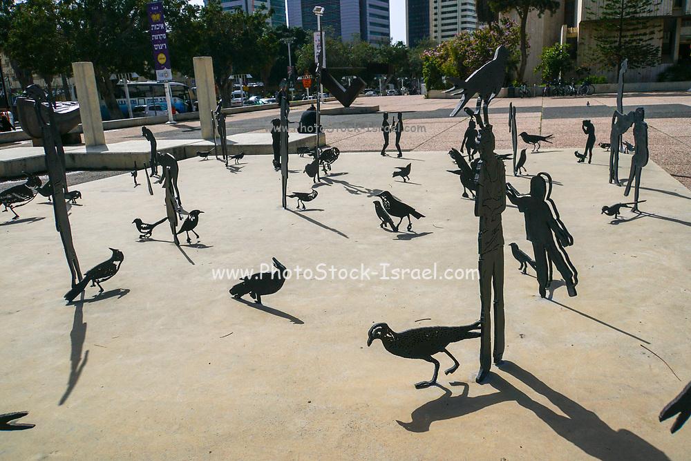 Israel, Tel Aviv, installation by ZADOK BEN-DAVID, outside the Tel Aviv museum of art