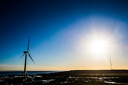 Samsung's seven megawatt machine located at the Methil Offshore Wind Farm. It is a demonstrator site for experimental offshore wind turbines at Fife Energy Park off the coast of Methil, Fife in Scotland. The The tower stands to a maximum height of 110 metres, and 195 metres to blade tip. The rotor has three blades and spans 171 metres and Samsung has invested £70 million in the demonstrator project.