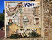 Ceramic tiles picture of Cuacos de Yuste, La Vera, Extremadura, Spain
