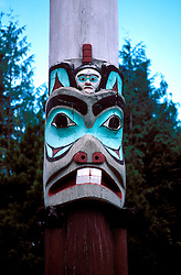 Alaska: Totem poles in Ketchikan, Saxman Totem.  Photo akpanh103..Photo copyright Lee Foster, 510/549-2202,  lee@fostertravel.com, www.fostertravel.com