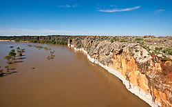 The remains of the ancient Devonian reef at Geikie Gorge near Fitzroy Crossing,