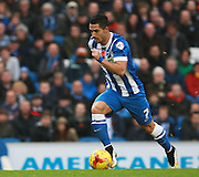 Brighton central midfielder Beram Kayal surges forward during the Sky Bet Championship match between Brighton and Hove Albion and Milton Keynes Dons at the American Express Community Stadium, Brighton and Hove, England on 7 November 2015. Photo by Bennett Dean.