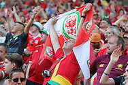 A Welsh fan can't hide his emotion at the final whistle after Wales win their first Euro 2016 match 2-1. Euro 2016, Wales v Slovakia at Matmut Atlantique , Nouveau Stade de Bordeaux  in Bordeaux, France on Saturday 11th June 2016, pic by  Andrew Orchard, Andrew Orchard sports photography.
