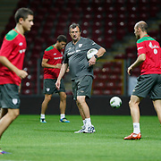 Athletic Bilbao's players during their team's training session in Istanbul, Turkey, 24 August 2011. Athletic Bilbao will face Trabzonspor in the UEFA Europa League play off second leg soccer match on 25 August.  Photo by TURKPIX