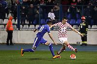 Osijek,23.03.2015. The stadium Municipal Garden played a friendly football match, Croatia - Israel. On Picture: Ivan Perisic, Ben Bitton<br /> Foto Mario CUZIC/Zagreb news agency