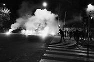 Some clash during the demostration in Roma organized by the left wing movements to protest againt the measuers eforced by the Italian Government to fight the spread of the COVID-19 on Octorber 31, Italy.