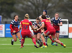 Cat McNaney of Bristol Bears Women in action against Harlequins Ladies - Mandatory by-line: Paul Knight/JMP - 01/12/2018 - RUGBY - Shaftesbury Park - Bristol, England - Bristol Bears Women v Harlequins Ladies - Tyrrells Premier 15s