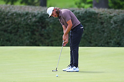 August 26, 2018 - Paramus, NJ, U.S. - PARAMUS, NJ - AUGUST 26:  Tommy Fleetwood of England plays his shot from the 16th green during the final round of The Northern Trust on August 26, 2018 at the Ridgewood Championship Course in Ridgewood, New Jersey. (Photo by Rich Graessle/Icon Sportswire) (Credit Image: © Rich Graessle/Icon SMI via ZUMA Press)