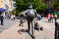 Statue of comic character Desperate Dan in centre of Dundee, Scotland