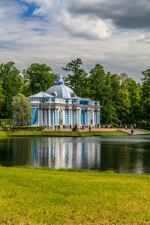 The Grotto Pavilion  of The Catherine Palace in the town of Tsarskoye Selo (Pushkin), Russia. At Catherine's times the Grotto was the place of rest and solitude.
