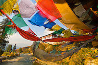 Prayer flags, Paro, Bhutan
