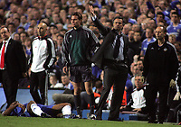 Photo: Paul Thomas.<br /> Chelsea v Liverpool. UEFA Champions League. Semi Final, 1st Leg. 25/04/2007.<br /> <br /> Jose Mourinho