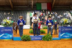 Podium Individual Final, Fonck Bernard, L Huss Daniel, Cade McCutcheon<br /> World Equestrian Games - Tryon 2018<br /> © Hippo Foto - Dirk Caremans<br /> 15/09/2018