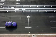 © Licensed to London News Pictures. 02/01/2013. Washington DC, USA . A car travels along a road in Washington DC.  Photo credit : Stephen Simpson/LNP