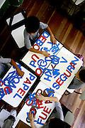 Belo Horizonte_MG, Brasil...Aula da 1a serie na E. E. Barao do Rio Branco. Na foto crianca aprendendo a escrever...The classroom E.E. Barao do Rio Branco. In this photo a children learning write...Foto: LEO DRUMOND / NITRO.