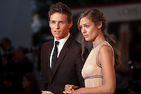 Actor Eddie Redmayne and Hannah Bagshawe at the gala screening for the film The Danish Girl  at the 72nd Venice Film Festival, Saturday September 5th 2015, Venice Lido, Italy.