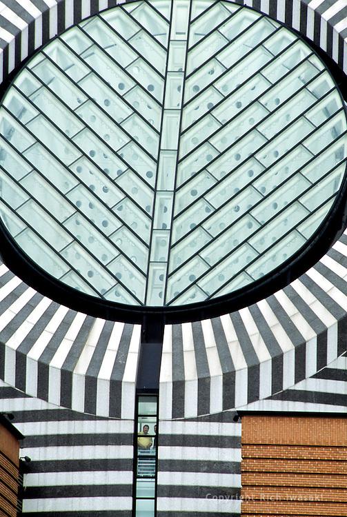 Detail view of the San Francisco Museum of Modern Art exterior, San Francisco, California