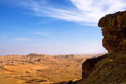 Ramon Crater. This large depression at the peak of Mount Negev in the Negev Desert, Israel, is not an impact crater, but an erosion cirque or makhtesh. It is the largest makhtesh in the world, measuring 40 kilometres in length and between 2 and 10 kilometres in width.