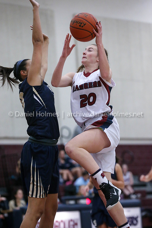 (12/19/17, WESTBOROUGH, MA) Westborough's Emily Burneson goes up during the girls basketball game against Shrewsbury at Westborough High School on Tuesday. [Daily News and Wicked Local Photo/Dan Holmes]