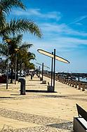 A section of the long Boardwalk in Santa Luzia, Portugal