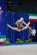 Marta Martella atleta della società Flaminio di Roma durante la seconda prova del Campionato Italiano di Ginnastica Ritmica.<br /> La gara si è svolta a Desio il 31 ottobre 2015.