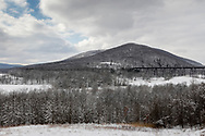 Cornwalll, New York - Winter scene after a snowstorm on March 4, 2019.