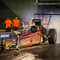 Shane Weston (3301) in the Weston Racing 'Endangered Species' Top Alcohol Dragster at the Perth Motorplex.