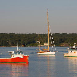The view of Cundy's Harbor from Holbrook's Wharf.  Cundy Harbor, Maine.