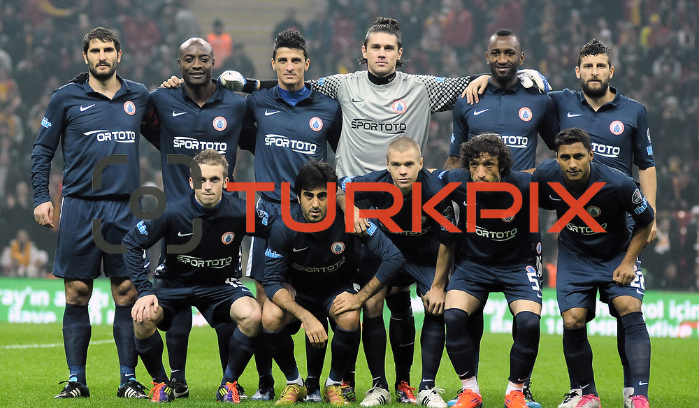 IBBSpor's players during their Turkish Super League soccer match Galatasaray between IBBSpor at the TT Arena at Seyrantepe in Istanbul Turkey on Tuesday, 03 January 2012. Photo by TURKPIX