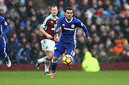 Pedro of Chelsea in action. Premier league match, Burnley v Chelsea at Turf Moor in Burnley, Lancs on Sunday 12th February 2017.<br /> pic by Chris Stading, Andrew Orchard Sports Photography.