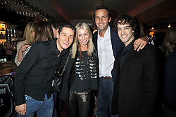 Left to right, CHRIS PARKER, DENISE VAN OUTEN, CHARLIE GILKES and LEE MEAD at a party to celebrate the opening of Barts, Sloane Ave, London on 26th February 2009.