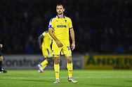 James Hanson (18) of AFC Wimbledon during the EFL Sky Bet League 1 match between Bristol Rovers and AFC Wimbledon at the Memorial Stadium, Bristol, England on 23 October 2018.