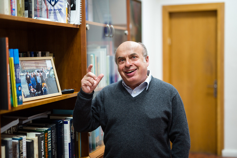 Chairman of the Jewish Agency for Israel, Natan Sharansky, gestures as he speaks during an interview at his office in Jerusalem, Israel, on January 26, 2016.