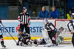 01.01.2019, Ice Rink, Znojmo, CZE, EBEL, HC Orli Znojmo vs EHC Liwest Black Wings Linz, 34. Runde, im Bild v.l. Allan McPherson (HC Orli Znojmo) Teemu Tapio Lassila (HC Orli Znojmo) // during the Erste Bank Eishockey League 34th round match between HC Orli Znojmo and EHC Liwest Black Wings Linz at the Ice Rink in Znojmo, Czechia on 2019/01/01. EXPA Pictures © 2019, PhotoCredit: EXPA/ Rostislav Pfeffer