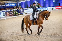 SCHATZ-WEIHERMÜLLER Stefanie (GER), C'est la Vie<br /> München - Munich Indoors 2019<br /> Preis der Liselott und Klaus Rheinberger Stiftung<br /> Grand Prix de Dressage (CDI4*) <br /> Wertungsprüfung MEGGLE Champions of Honour,<br /> Qualifikation für Kür<br /> 21. November 2019<br /> © www.sportfotos-lafrentz.de/Stefan Lafrentz