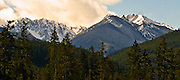 lat e winter along the Dungeness River Valley and the Buckhorn Wilderness of the Olympic Mountians of Washington, USA