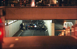 File photo taken on August 31, 1997 - -Princess Diana and Dodi Al Fayed's crashed Mercedes under Alma tunnel in Paris, they both died in the accident along with driver Henri Paul. Princess Diana died on August 31 1997 after suffering fatal injures in a car crash in the Pont de l'Alma road tunnel in Paris. Her companion Dodi Fayed and driver and security guard Henri Paul were also killed in the crash. Photo by ABACAPRESS.COM