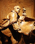 Louis-Francois Roubiliac 1702-1762  This is a small model or later version of the monument to the composer Handel, 1685-1759 made by Roubiliac for Westminster Abbey. Terracotta and plaster of Paris. The monument was paid for by a bequest of £600, which Handel left is his will for this purpose.